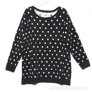 Charter Club sweater pullover polka dot 3X
